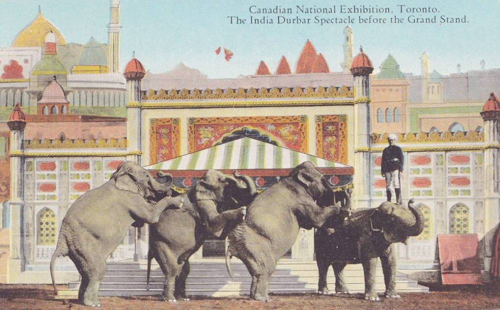 POSTCARD - TORONTO - EXHIBITION - INDIA DURBAR SPECTACLE - GRAND STAND - TINTED - c1910